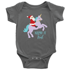 Unicorn Christmas Bodysuit for Baby's 1st Christmas - Bump and Beyond Designs