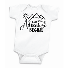 Pregnancy Announcement Bodysuit, And so the Adventure Begins
