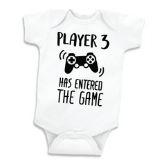Player 3 Has Entered the Game, Funny Pregnancy Announcement Bodysuit
