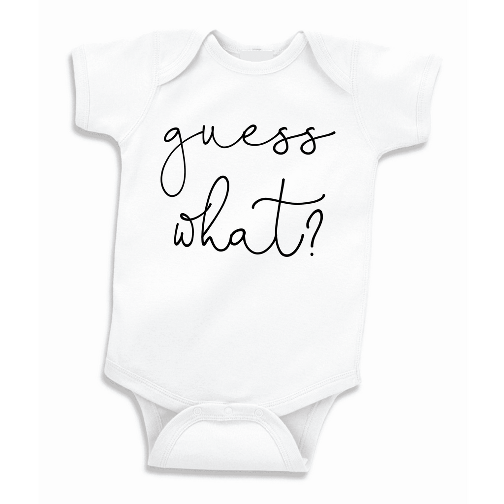 Pregnancy Announcement to Husband, Guess What Bodysuit