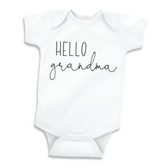 Hello Grandma Bodysuit, Pregnancy Announcement to Grandma