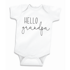 Hello Grandpa Bodysuit, Pregnancy Announcement to Grandpa