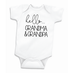 Grandma and Grandpa Pregnancy Announcement Bodysuit