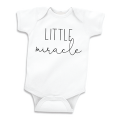 Little Miracle Pregnancy Announcement Bodysuit, Baby Shower Gift