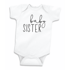 Baby Sister Pregnancy Announcement Bodysuit, Gender Reveal