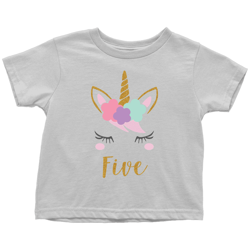 Unicorn 5th Birthday Girl Shirt - Bump and Beyond Designs