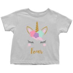 Unicorn 4th Birthday Girl Shirt - Bump and Beyond Designs