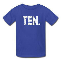 Boy 10th Birthday Shirt, Birthday Boy T-Shirt, Ten Year Old Birthday Gift - royal blue