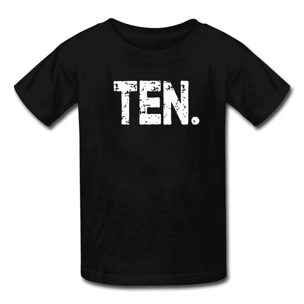 Boy 10th Birthday Shirt, Birthday Boy T-Shirt, Ten Year Old Birthday Gift - black
