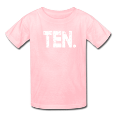 Boy 10th Birthday Shirt, Birthday Boy T-Shirt, Ten Year Old Birthday Gift - pink