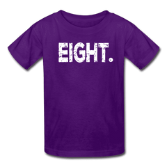 Boy 8th Birthday Shirt, Birthday Boy T-Shirt, Eight Year Old Birthday Gift - purple