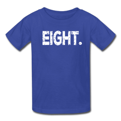 Boy 8th Birthday Shirt, Birthday Boy T-Shirt, Eight Year Old Birthday Gift - royal blue
