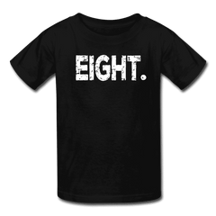 Boy 8th Birthday Shirt, Birthday Boy T-Shirt, Eight Year Old Birthday Gift - black