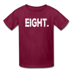 Boy 8th Birthday Shirt, Birthday Boy T-Shirt, Eight Year Old Birthday Gift - burgundy
