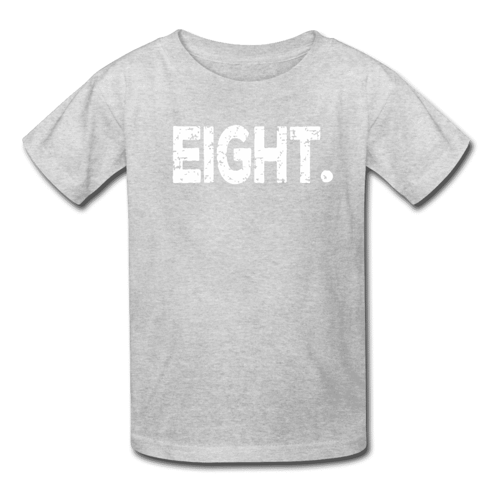 Boy 8th Birthday Shirt, Birthday Boy T-Shirt, Eight Year Old Birthday Gift - heather gray