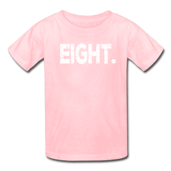 Boy 8th Birthday Shirt, Birthday Boy T-Shirt, Eight Year Old Birthday Gift - pink