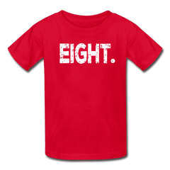 Boy 8th Birthday Shirt, Birthday Boy T-Shirt, Eight Year Old Birthday Gift - red