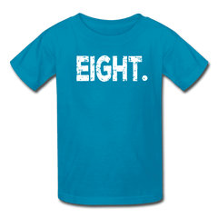 Boy 8th Birthday Shirt, Birthday Boy T-Shirt, Eight Year Old Birthday Gift - turquoise