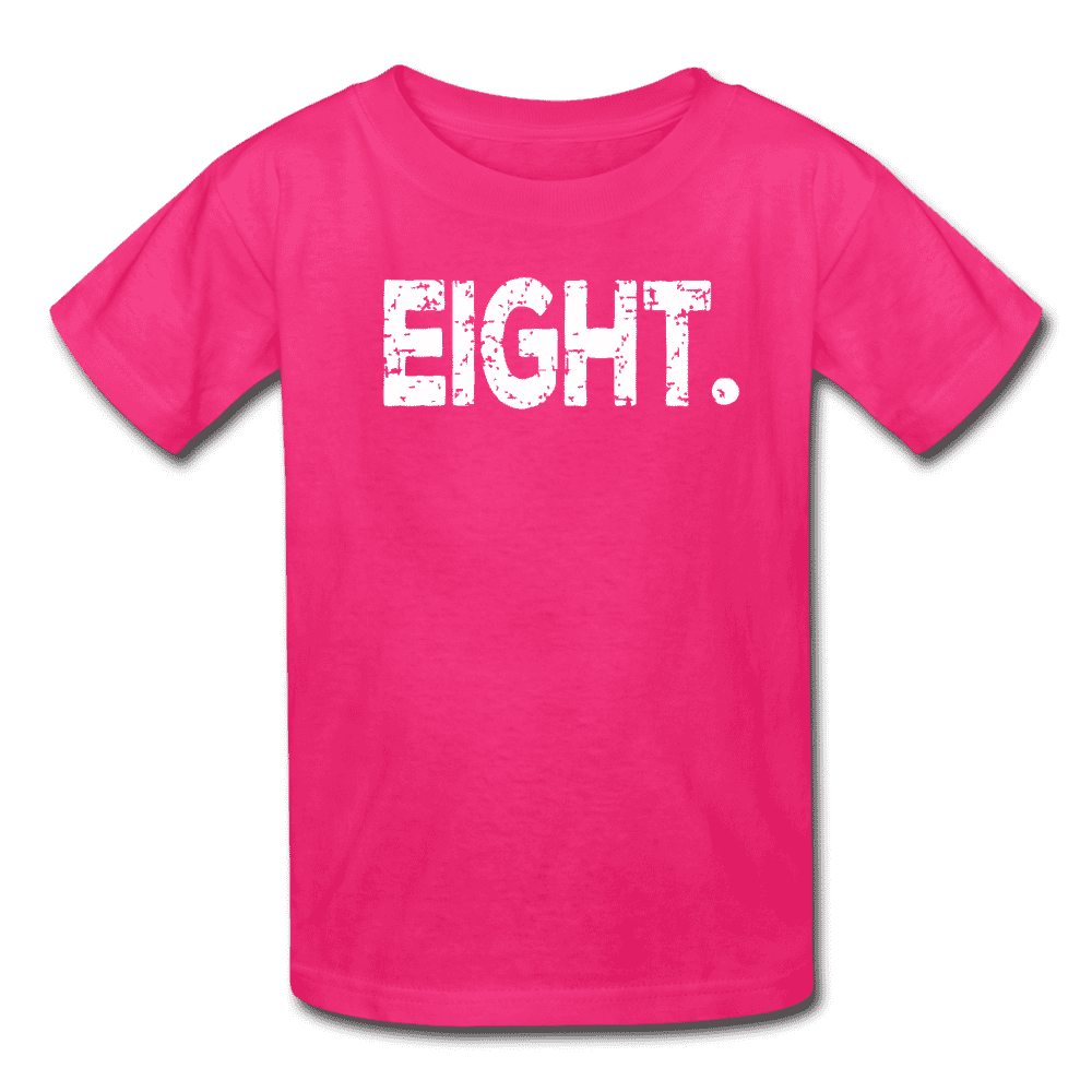 Boy 8th Birthday Shirt, Birthday Boy T-Shirt, Eight Year Old Birthday Gift - fuchsia