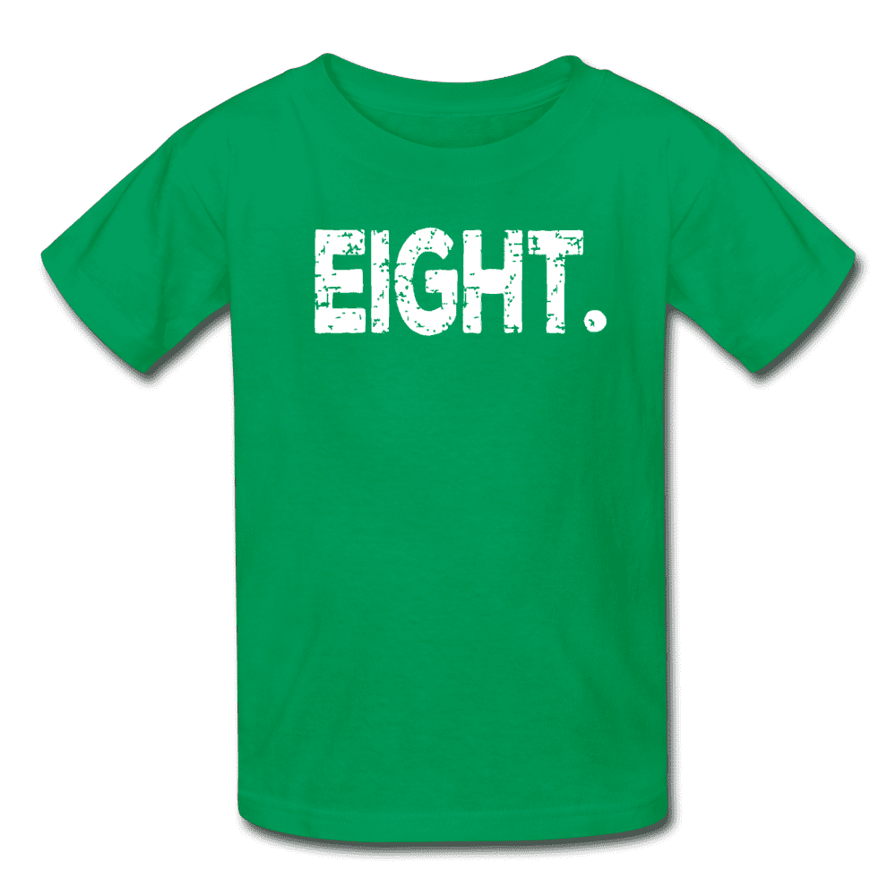 Boy 8th Birthday Shirt, Birthday Boy T-Shirt, Eight Year Old Birthday Gift - kelly green