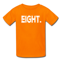 Boy 8th Birthday Shirt, Birthday Boy T-Shirt, Eight Year Old Birthday Gift - orange