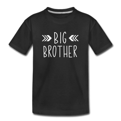 Big Sister Shirt for Boys, Big Brother to Be Gift, Kids' Premium T-Shirt - black
