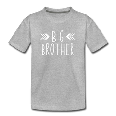 Big Sister Shirt for Boys, Big Brother to Be Gift, Kids' Premium T-Shirt - heather gray