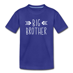 Big Sister Shirt for Boys, Big Brother to Be Gift, Kids' Premium T-Shirt - royal blue