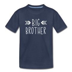 Big Sister Shirt for Boys, Big Brother to Be Gift, Kids' Premium T-Shirt - navy
