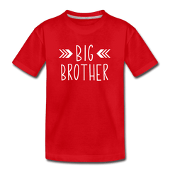 Big Sister Shirt for Boys, Big Brother to Be Gift, Kids' Premium T-Shirt - red