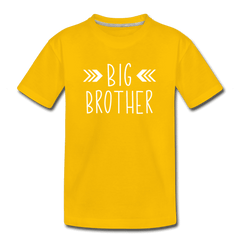 Big Sister Shirt for Boys, Big Brother to Be Gift, Kids' Premium T-Shirt - sun yellow