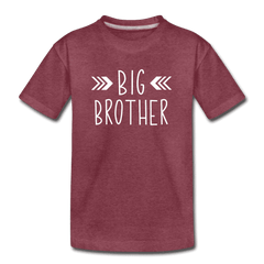 Big Sister Shirt for Boys, Big Brother to Be Gift, Kids' Premium T-Shirt - heather burgundy
