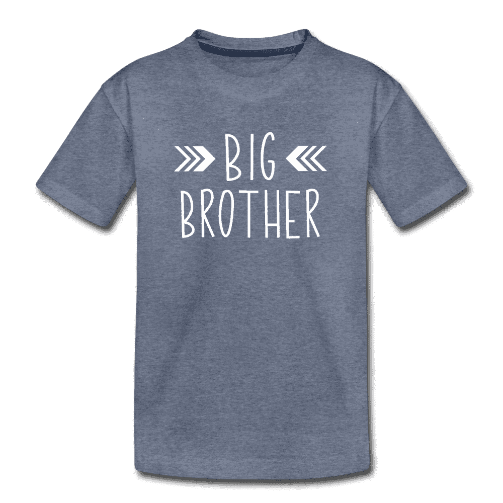 Big Sister Shirt for Boys, Big Brother to Be Gift, Kids' Premium T-Shirt - heather blue