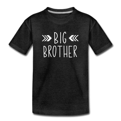 Big Sister Shirt for Boys, Big Brother to Be Gift, Kids' Premium T-Shirt - charcoal gray