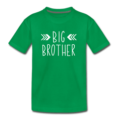 Big Sister Shirt for Boys, Big Brother to Be Gift, Kids' Premium T-Shirt - kelly green