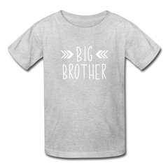 Big Brother Shirt, Hanes Youth Tagless T-Shirt - heather gray