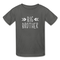 Big Brother Shirt, Hanes Youth Tagless T-Shirt - charcoal