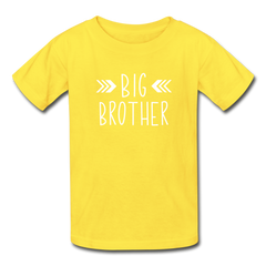 Big Brother Shirt, Hanes Youth Tagless T-Shirt - yellow