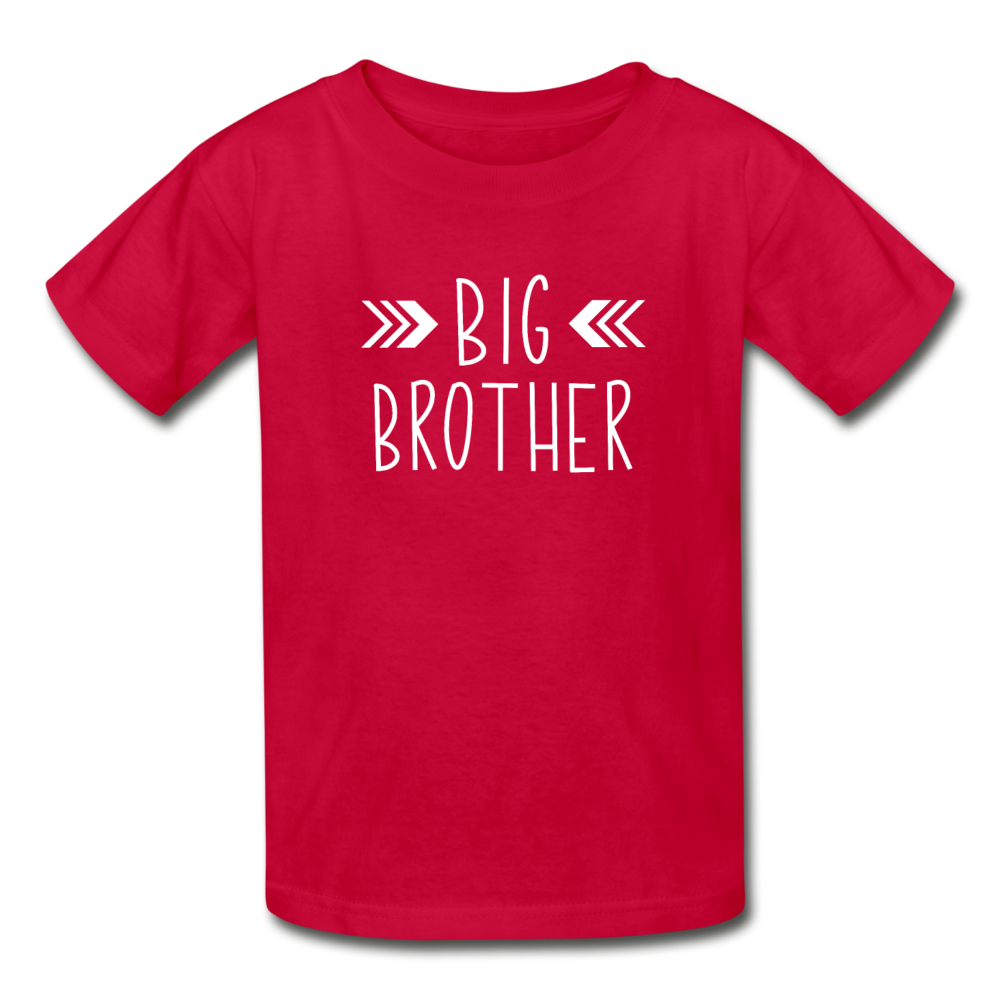Big Brother Shirt, Hanes Youth Tagless T-Shirt - red