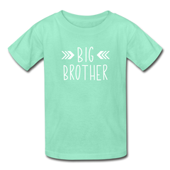 Big Brother Shirt, Hanes Youth Tagless T-Shirt - deep mint