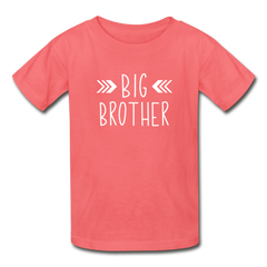 Big Brother Shirt, Hanes Youth Tagless T-Shirt - coral