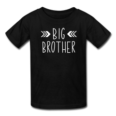 Big Brother Shirt, Kids' T-Shirt Fruit of the Loom - black