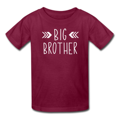 Big Brother Shirt, Kids' T-Shirt Fruit of the Loom - burgundy