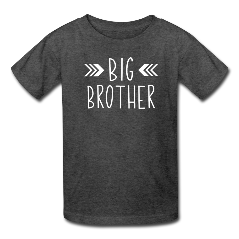 Big Brother Shirt, Kids' T-Shirt Fruit of the Loom - heather black