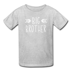 Big Brother Shirt, Kids' T-Shirt Fruit of the Loom - heather gray
