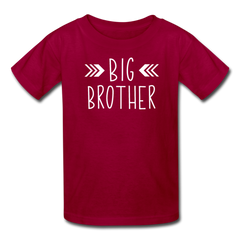 Big Brother Shirt, Kids' T-Shirt Fruit of the Loom - dark red