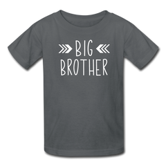 Big Brother Shirt, Kids' T-Shirt Fruit of the Loom - charcoal