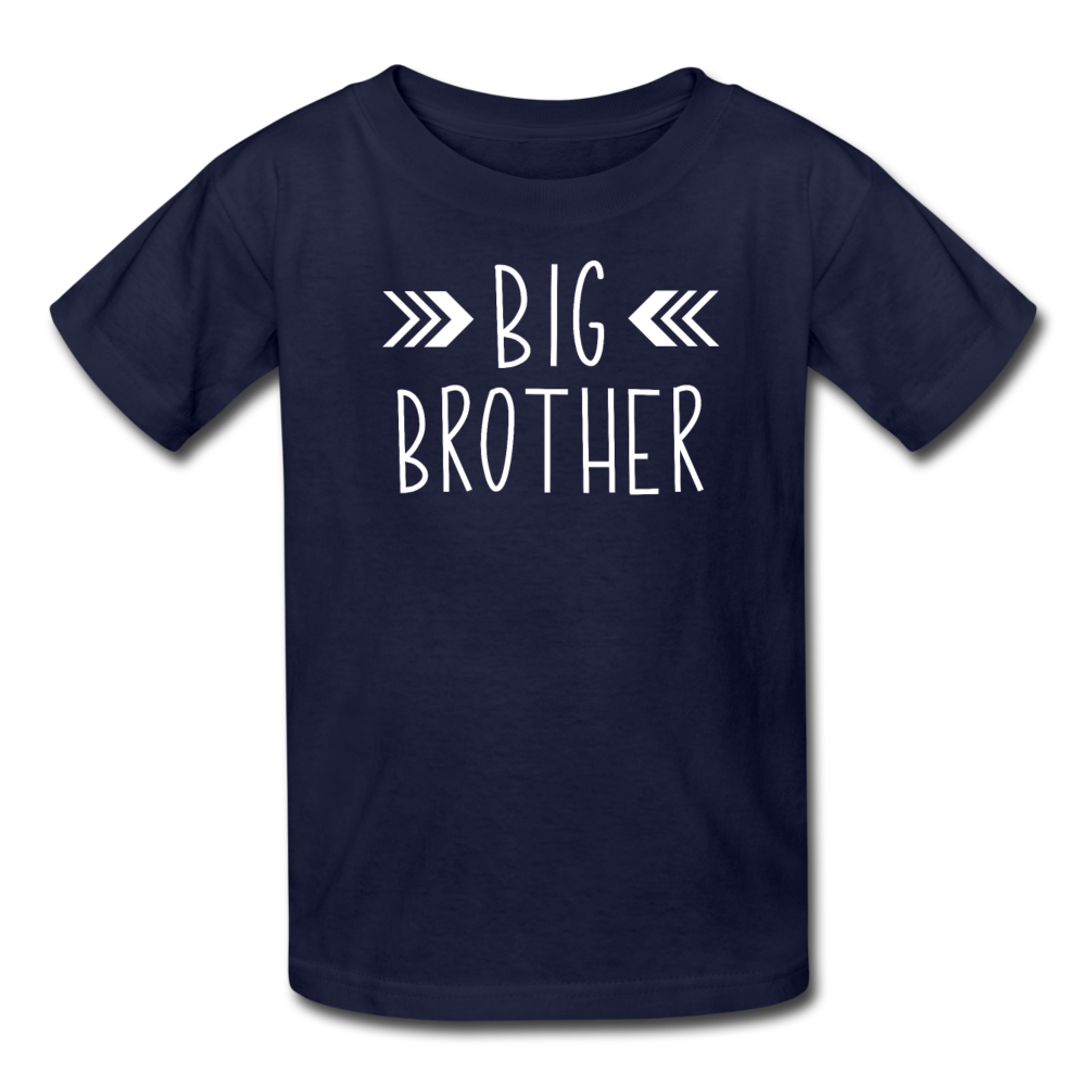 Big Brother Shirt, Kids' T-Shirt Fruit of the Loom - navy