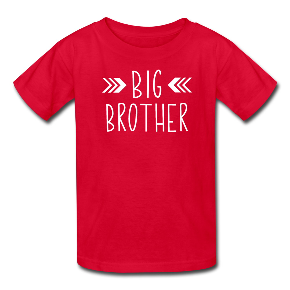 Big Brother Shirt, Kids' T-Shirt Fruit of the Loom - red