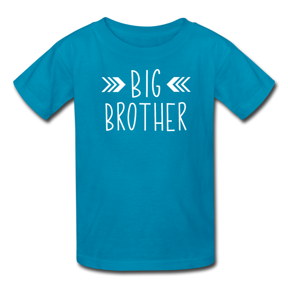 Big Brother Shirt, Kids' T-Shirt Fruit of the Loom - turquoise